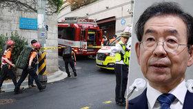 Pohřešovaného starostu Soulu viněného z obtěžování našli mrtvého