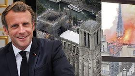 Macron už ví, jak bude vypadat shořelá vížka Notre-Dame. Celá katedrála se vrátí do původní podoby.