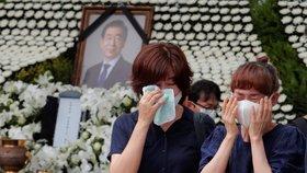 Úřady jihokorejské metropole Soul uspořádaly pětidenní pohřební obřad starostovi Pak Won-sunovi (11. 7. 2020)