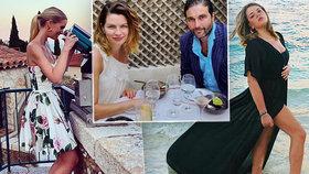 Celebrity si po koronavirovém uvolnění vyjely na prázdniny.