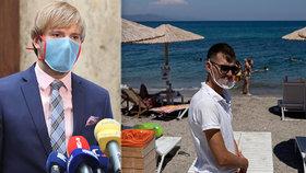 Češi se mohou nakazit na dovolené mezi sebou nebo od dalších turistů, varoval ministr Adam Vojtěch (za ANO).
