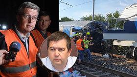 K nehodě vlaků u Českého Brodu se vyjadřují i vicepremiéři Havlíček a Hamáček