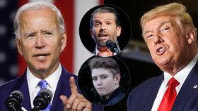 """Biden je podle průzkumů jasným favoritem. Prezident ztrácí. """"Neuspěl by ani proti Barronovi,"""" zuří Trump mladší."""