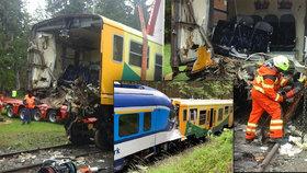 Nabouraný vlak putoval do šrotu.