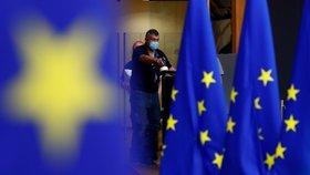 Summit EU v Bruselu, který je věnovaný víceletému rozpočtu a fondu obnovy (17. 7. 2020)
