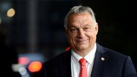 Maďarský premiér Viktor Orbán na evropském summitu v Bruselu (20. 7. 2020)