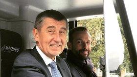 Andrej Babiš s primátorem Ostravy Tomášem Macurou (oba ANO)
