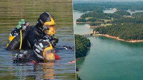 Prokleté jezero? Jen tento měsíc se v něm utopili čtyři lidé. Ilustrační foto (vlevo), Jezero Lanier (vpravo).