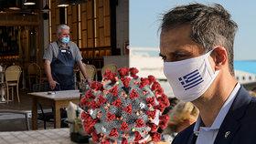 V Řecku budou lidé povinni nosit roušky do obchodů a bank.