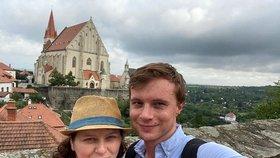 Ministryně práce a sociálních věcí Jana Maláčová (ČSSD) s partnerem,  náměstkem ministra zahraničních věcí Alešem Chmelařem ve Znojmě.