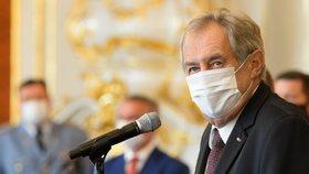 Prezident Miloš Zeman na Hradě jmenoval 33 nových soudců (29.7.2020)