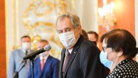 Prezident Miloš Zeman na Hradě jmenoval 33 nových soudců. (29.7.2020)