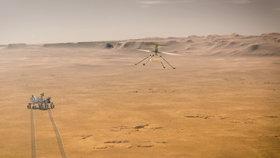 Nová sonda NASA Perseverance má k dispozici i dron
