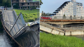 Na Slovensku se do řeky zřítil most! Žena skončila v nemocnici