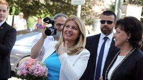 Slovenská prezidentka Zuzana Čaputová se po návratu z dovolené opět vrátila do práce.