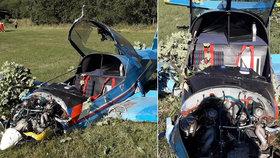 Malé letadlo se zřítilo do pole u Oldřichova.
