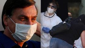 Brazilský prezident Jair Bolsonaro přiznal, že mu koronavirus zřejmě způsobil na plicích plíseň.