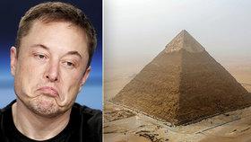 Podle Elona Muska postavili egyptské pyramidy mimozemšťané, Egypt potvrdil opak