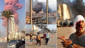 Masivní exploze v Bejrútu, metropoli Libanonu (4. 8. 2020)