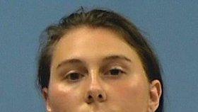 Hailey Pardyová po zatčení.