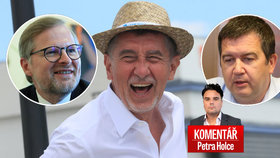 Premiér Andrej Babiš (ANO), vicepremiér Jan Hamáček (ČSSD) a šéf ODS Petr Fiala v komentáři Petra Holce