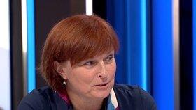Hlavní hygienička Jarmila Rážová v Partii (9. 8. 2020)