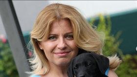 Slovenská prezidentka Čaputová má nového psa. (9.08.2020)