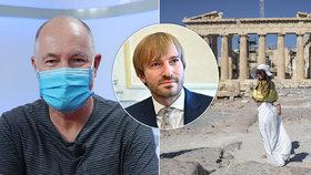Řecko zavádí povinné testy na covid pro několik zemí, včetně ČR, cestovky viní ministerstvo zdravotnictví. (10. 8. 2020)