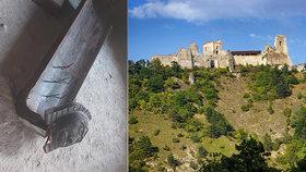Vandal řádil na Čachtickém hradě, kde v 16. století mučila a zabíjela své oběti sadistická šlechtična Alžběta Báthoryová.