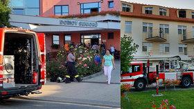 Požár v domově důchodů ve Mšeně na Mělnicku