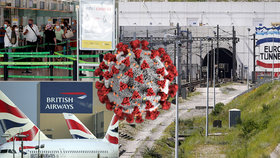 Británie nařídila karanténu pro cestující z Francie, Nizozemska a Malty, Eurotunel praská ve švech.