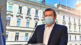 Tisková konference po jednání vlády: Jan Hamáček (ČSSD; 17. 8. 2020)