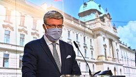 Tisková konference po jednání vlády: Karel Havlíček (za ANO; 17. 8. 2020)