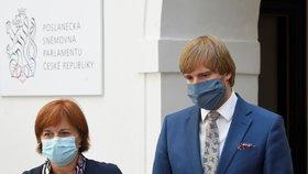 Sněmovna o koronaviru: Jarmila Rážová a Adam Vojtěch (za ANO, 19. 8. 2020)