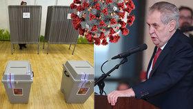 Zeman vyhlásil datum voleb pro lidi v karanténě, uskuteční se 30. září a 1. října