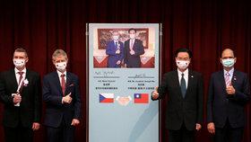 Šéf Senátu Miloš Vystrčil na návštěvě Tchaj-wanu (3.9.2020)