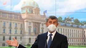 Andrej Babiš (ANO) na tiskové konferenci (14. 9. 2020)
