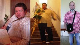 Tři fotografie, ale stejný člověk - Štěpán kdysi vážil 197 kilogramů, nyní má 85 kilogramů