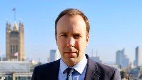 Britský ministr zdravotnictví Matt Hancock