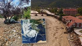 Řecko zasáhl středozemní hurikán Ianos