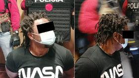 Zadržený Afričan.