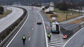 Kontroly na hranicích s Němckem.
