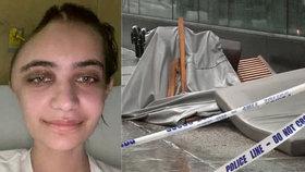 Annabel (24) šla na oběd, když na ní z 12. patra spadlo křeslo! Utrpěla vážné zranění mozku