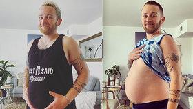 Transgender muž (36) čeká své první dítě: Kvůli těhotenství přerušil hormonální terapii.
