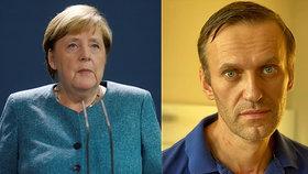 Merkelová navštívila otráveného Navalného v nemocnici