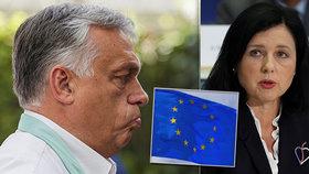 Orbán chce sesadit Jourovou, místopředsedkyni EK vyzval k odstoupení