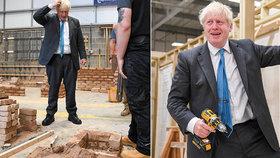 """""""Neschopný"""" Johnson se musel omlouvat za zmatky ohledně opatření, nepředvedl se ani v dílně."""