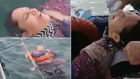 Ženu našli rybáři ve zbídačeném stavu na moři.