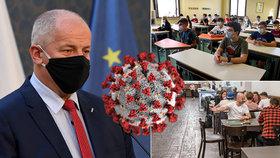Nouzový stav v ČR na měsíc. Střední školy zavřou v 10 regionech a v hospodách u stolu maximálně 6 lidí
