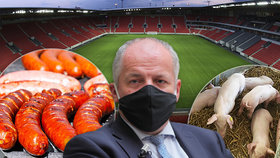Stánkaři vyhazují tisíce klobás kvůli zákazu lidí na fotbale. Do mrazáku je dát nesmí (ilustrační fotografie)
